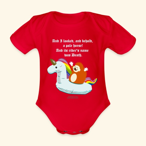 Geek T Shirt Igel, Einhorn & Johannes-Offenbarung - Baby Bio-Kurzarm-Body