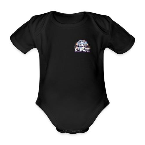 Flat Earth Debate Solid - Organic Short-sleeved Baby Bodysuit