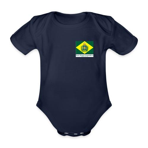 Brazil 200 years independence - Økologisk kortermet baby-body