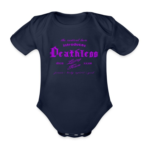 deathless living team violet - Baby Bio-Kurzarm-Body