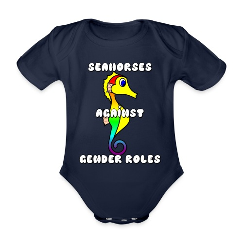 Seahorses against gender roles - Organic Short-sleeved Baby Bodysuit