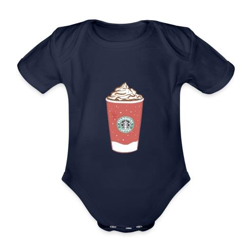 coffee - Organic Short-sleeved Baby Bodysuit