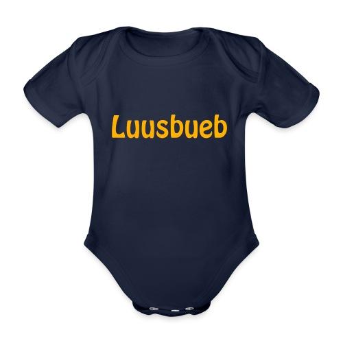 Luusbueb Schwiizertüütsch Mundart - Baby Bio-Kurzarm-Body