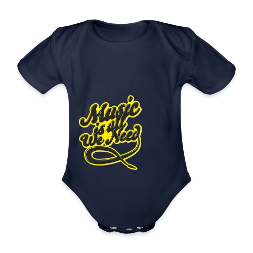 Music Is All We Need - Organic Short-sleeved Baby Bodysuit