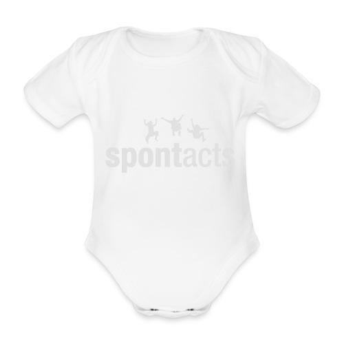 spontacts_Logo_weiss - Baby Bio-Kurzarm-Body