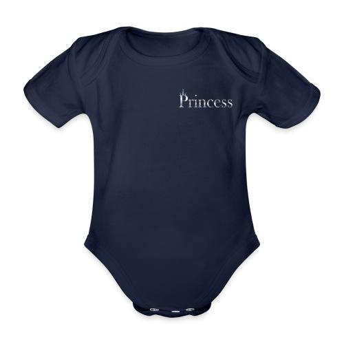 Princess silver - Økologisk kortermet baby-body