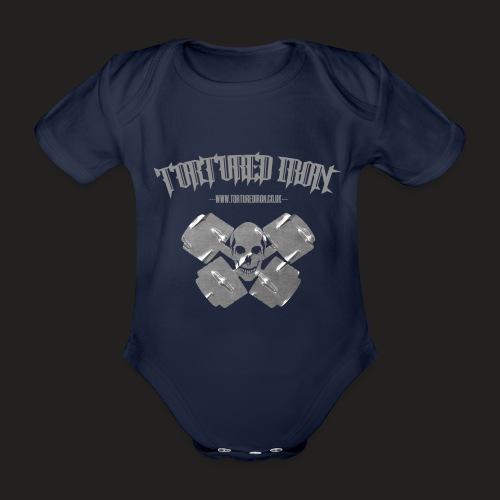 skull - Organic Short-sleeved Baby Bodysuit
