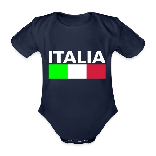 Italia Italy flag - Organic Short-sleeved Baby Bodysuit