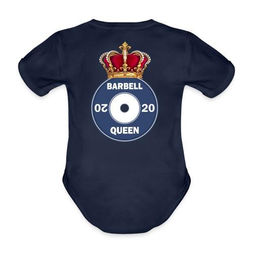 The Barbell Queen - Organic Short-sleeved Baby Bodysuit