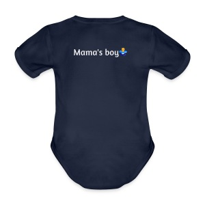 Mama's boy - Organic Short-sleeved Baby Bodysuit