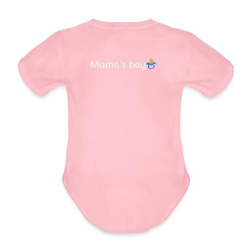 Mama's boy - Organic Short-sleeved Baby Bodysuit
