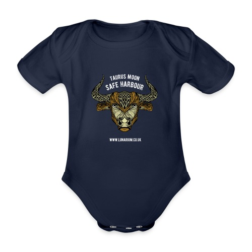Taurus Moon Dark - Organic Short-sleeved Baby Bodysuit