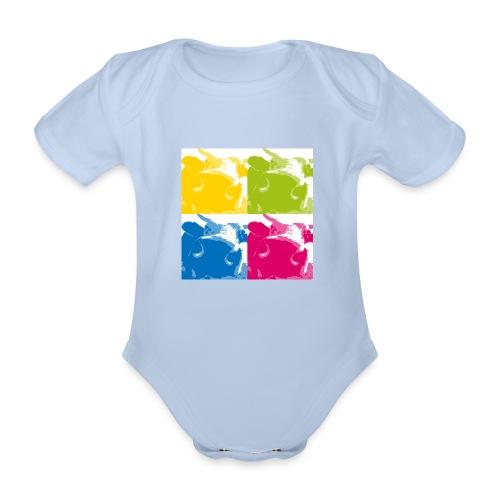 4 Kühe - Baby Bio-Kurzarm-Body