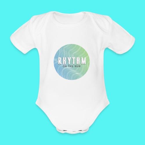 Rhythm On The Run Logo - Organic Short-sleeved Baby Bodysuit