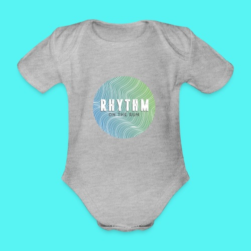 Rhythm On The Run Logo - Organic Short-sleeved Baby Bodysuit