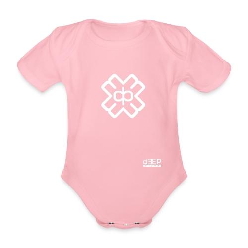 d3eplogowhite - Organic Short-sleeved Baby Bodysuit