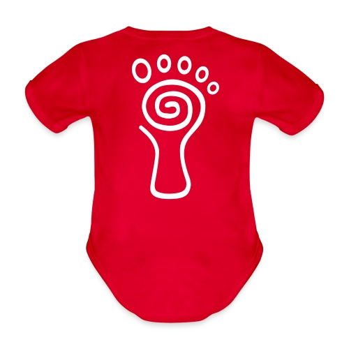 Parvati Records original white logo - Organic Short-sleeved Baby Bodysuit