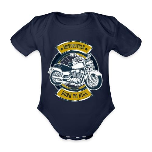 Motorcycle5 - Body orgánico de maga corta para bebé