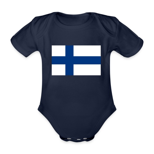 800pxflag of finlandsvg - Vauvan lyhythihainen luomu-body