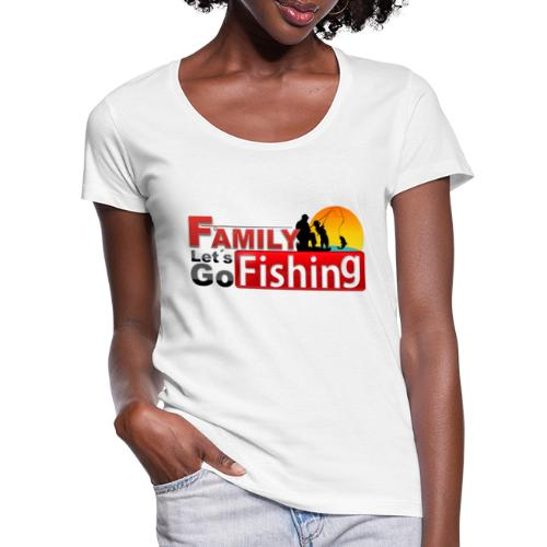 FAMILY LET´S GO FISHING FONDO - Camiseta con escote redondo mujer