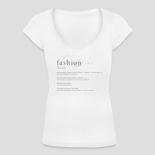 FASHION DICTIONARY - T-shirt scollata donna