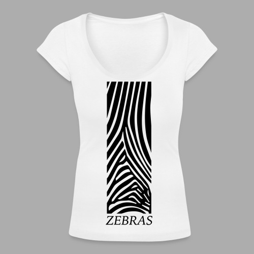 zebras - Women's Scoop Neck T-Shirt