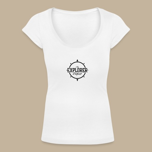 Black TEO Logo - Women's Scoop Neck T-Shirt