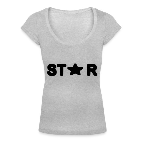 i see a star - Women's Scoop Neck T-Shirt