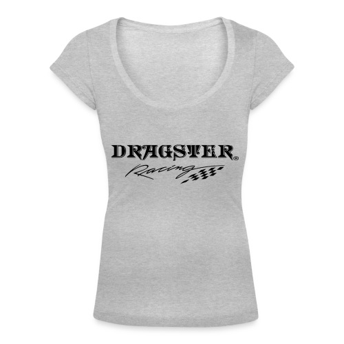 DRAGSTER WEAR RACING - T-shirt scollata donna
