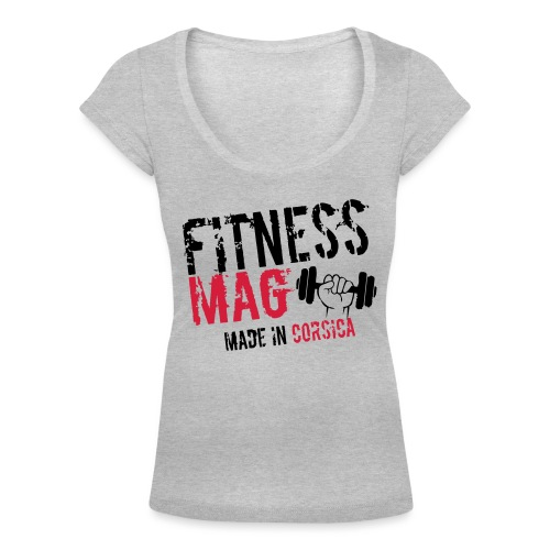 Fitness Mag made in corsica 100% Polyester - T-shirt col U Femme