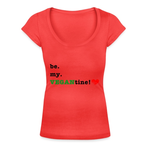 VEGANtine Green - Women's Scoop Neck T-Shirt