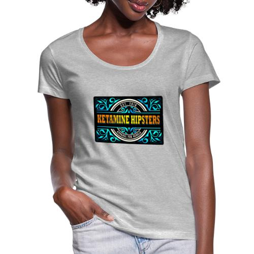 Black Vintage - KETAMINE HIPSTERS Apparel - Women's Scoop Neck T-Shirt