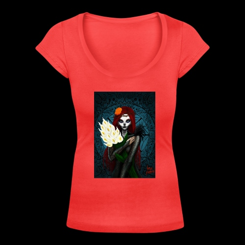 Death and lillies - Women's Scoop Neck T-Shirt