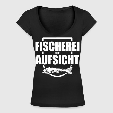 Fischerei ohne Aufsicht - Frauen T-Shirt mit U-Ausschnitt