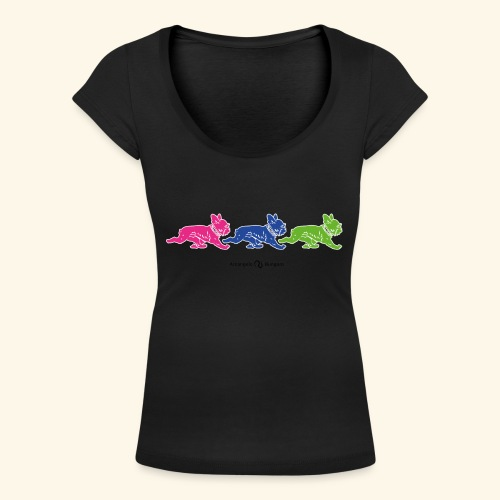 frenchies multicolor - T-shirt col U Femme