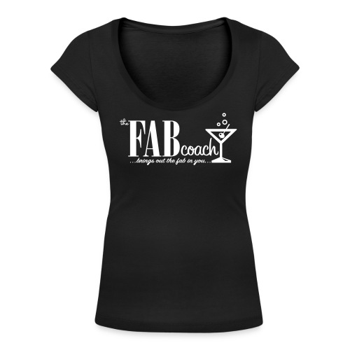 the FAB Coach - T-shirt med u-ringning dam