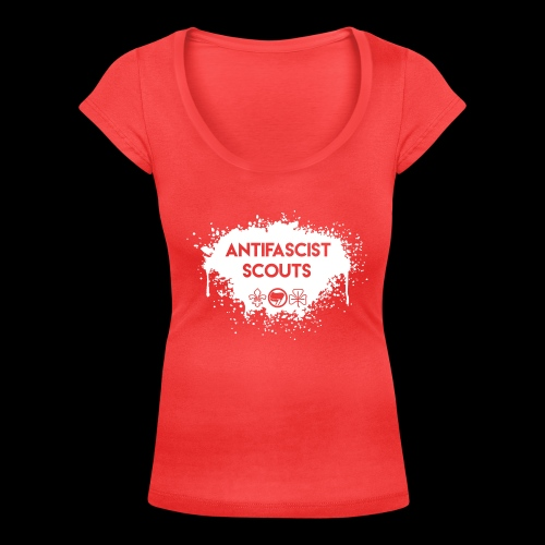 Antifascist Scouts - Women's Scoop Neck T-Shirt