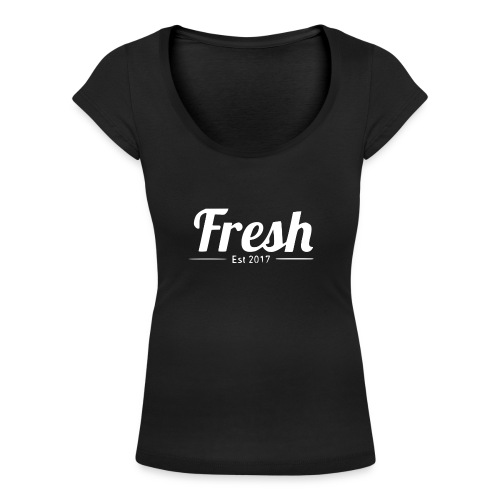 white logo - Women's Scoop Neck T-Shirt