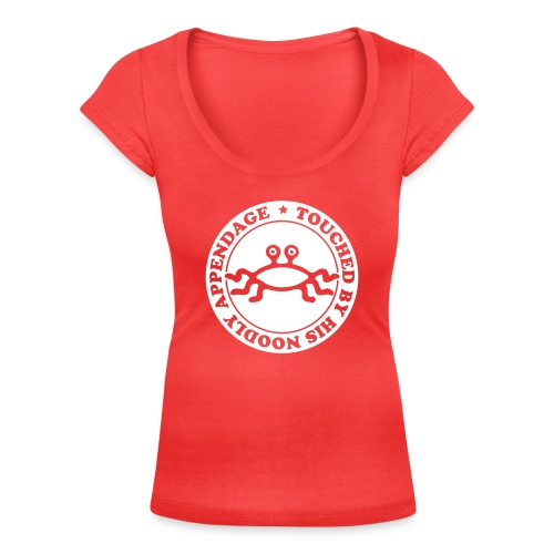 Touched by His Noodly Appendage - Women's Scoop Neck T-Shirt