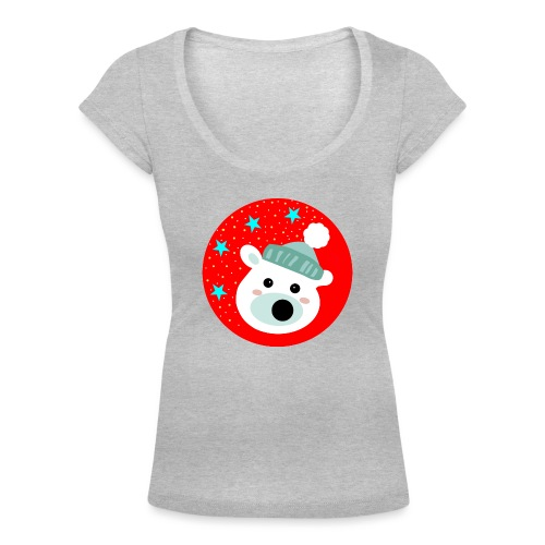Winter bear - Women's Scoop Neck T-Shirt