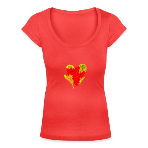 peeled heart (I saw) - Women's Scoop Neck T-Shirt