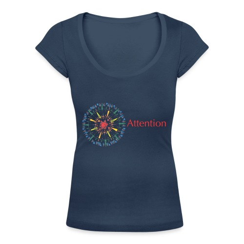 Attention - Women's Scoop Neck T-Shirt