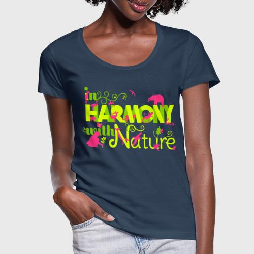 In Harmony With Nature - Women's Scoop Neck T-Shirt