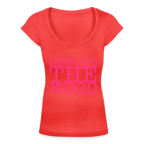 Unplug The Wood square - Women's Scoop Neck T-Shirt