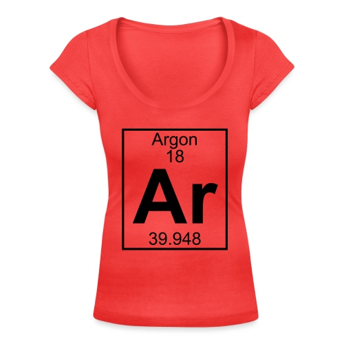 Argon (Ar) (element 18) - Women's Scoop Neck T-Shirt