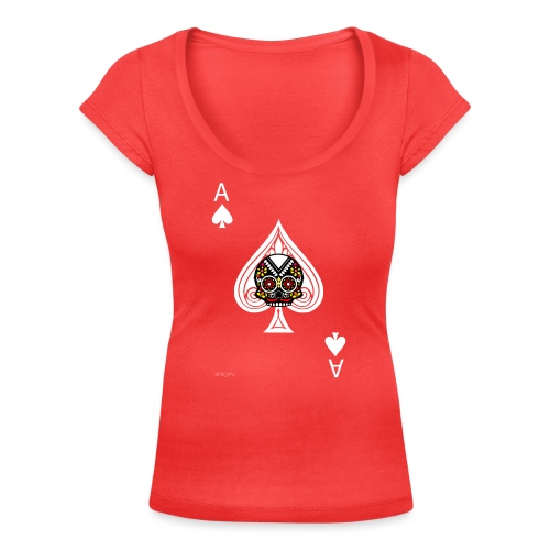Ace of spades - The skulls players - T-shirt col U Femme