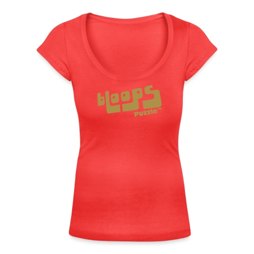 Women's Organic Tank Top bLoops Puzzle™ - Women's Scoop Neck T-Shirt