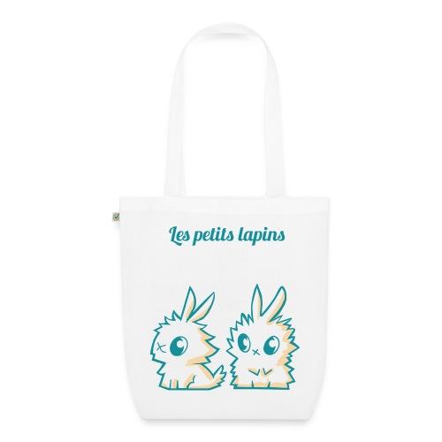 les-petits-lapins-text - Sac en tissu biologique