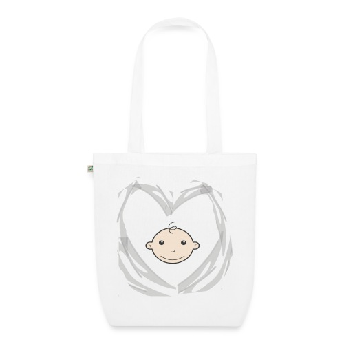 Heart and Baby head - Bio stoffen tas