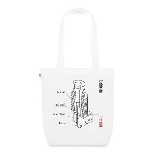Hotend anatomy (no text). - EarthPositive Tote Bag